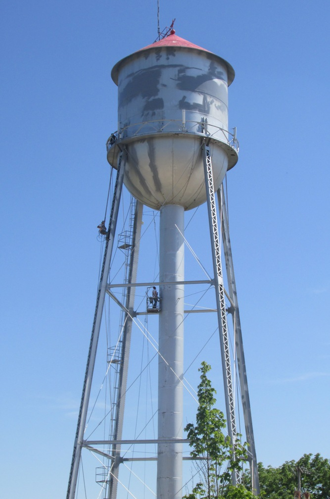 about-water towerw-workers